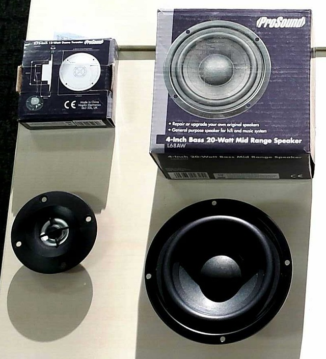 Maplin 2.75inch Tweeter and 4inch Mid/Bass Woofer
