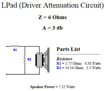 L-Pad driver attenuation circuit.